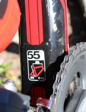 """Standing 6'1"""" (1.85m), Van Garderen rides a 55cm bike"""