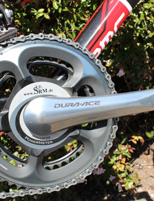Electric station: Shimano Di2 and an SRM add sophistication — and necessary weight — to the light frame
