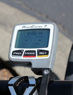 Unlike his competitors at RadioShack-Nissan-Trek who have custom-colored SRM head units, Van Garderen has a stock PowerControl 7. He really should talk to somebody about that