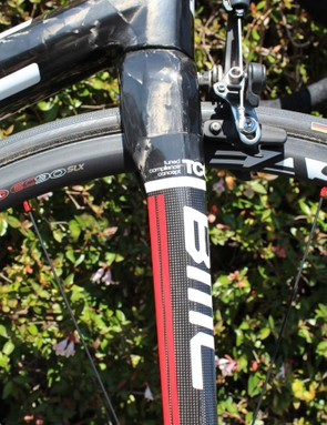 """BMC touts its """"TCC"""" design throughout the frame, where carbon is strategically directed for stiffness in one direction and compliance in another"""