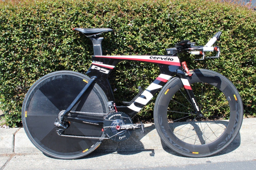 Andrew Talansky's Cervélo P5 will be raced for the first time Thursday at the Amgen Tour of California