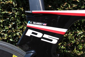 The massive seat tube 'cluster' of the P5
