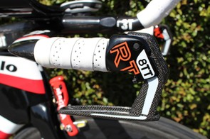 The RT 8TT hydraulic levers double as a quick release for the brake calipers. Pushing the brake lever forward — the opposite of the braking motion — pops the caliper open for wheel removal