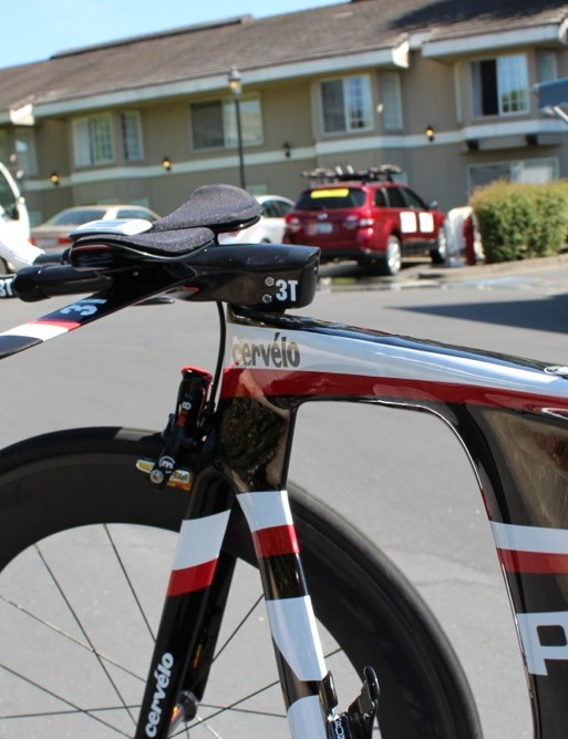 The P5 has three different height options for the 3T Aduro stem/handlebar. Which do you think Talansky runs?