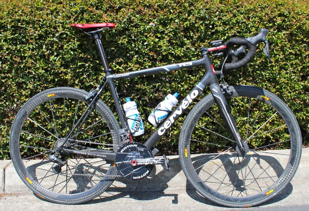 Dave Zabriskie's Cervélo R5 VWD Garmin-Barricuda team bike features a few custom modifications by mechanic Alex Banyay