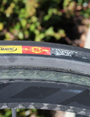 All Mavic's tubular, such as this Yksion GripLink, are 22mm