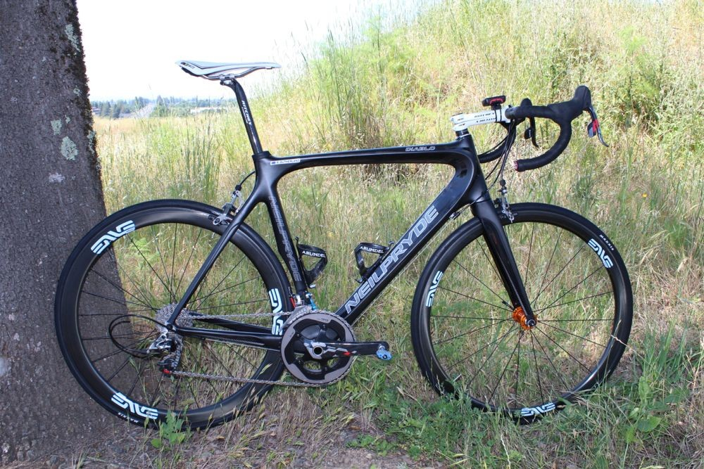 Rory Sutherland's Diablo is one of two road bikes by NeilPryde. The other, the Alize, is the company's aero bike