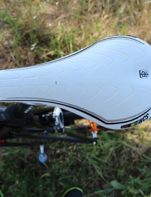 Sutherland prefers an older model of Ritchey WCS Streem saddle