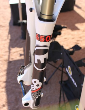 The smaller wheeled forks utilize SRAM's Maxle Lite through axle
