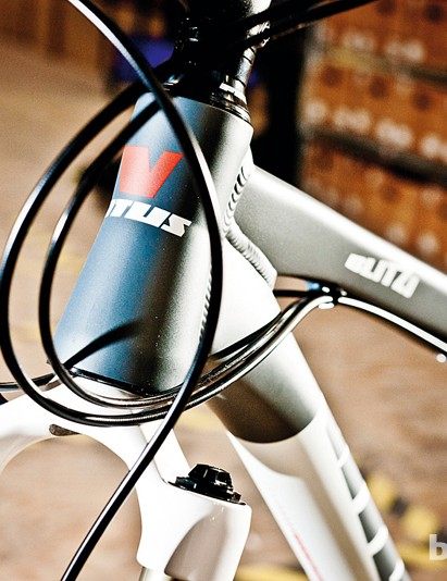 Inset bearings in the head tube create smooth lines