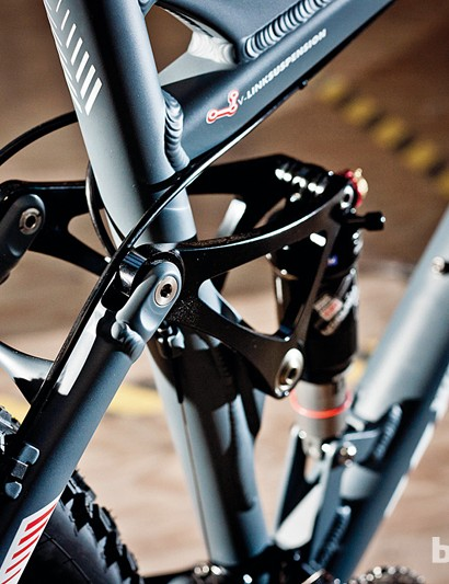 The RockShox Monarch shock is well tuned to give control when you're taking the hits
