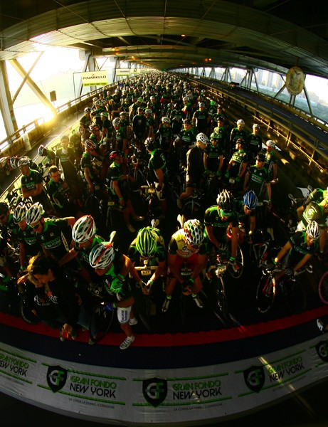 Some 5,000 riders set off on the  110-mile voyage