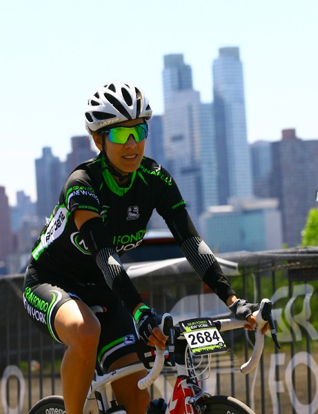 The New York skyline was a highlight of the gran fondo