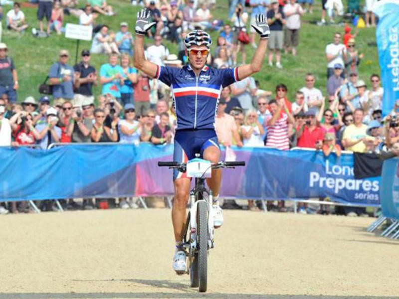 Reigning Olympic Champion Julien Absalon (France) won the Olympic Test Event on the Hadleigh Farm course last August