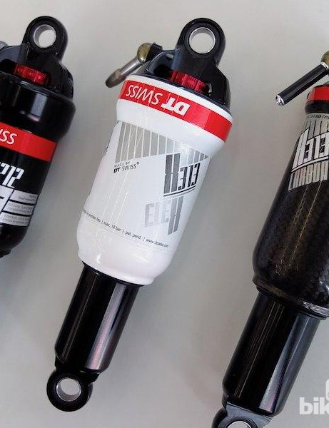 From left to right - M212, X313 Cross and X313 Carbon Cross rear shocks