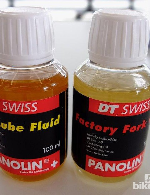 These new fork oils were developed by DT Swiss and Panolin over a year
