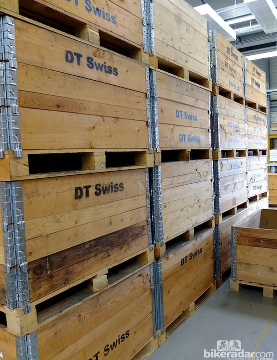 Crates of rims ready for shipment to Poland