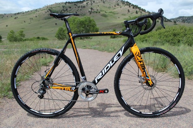 For 2013, Ridley have four cyclo-cross platforms: X-Night, X-Fire, X-Ride and X-Bow. This is the X-Fire Ultegra Disc