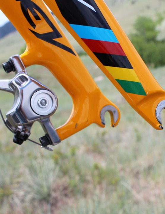 X-Fire Disc's fork is heavily reinforced at the lower legs