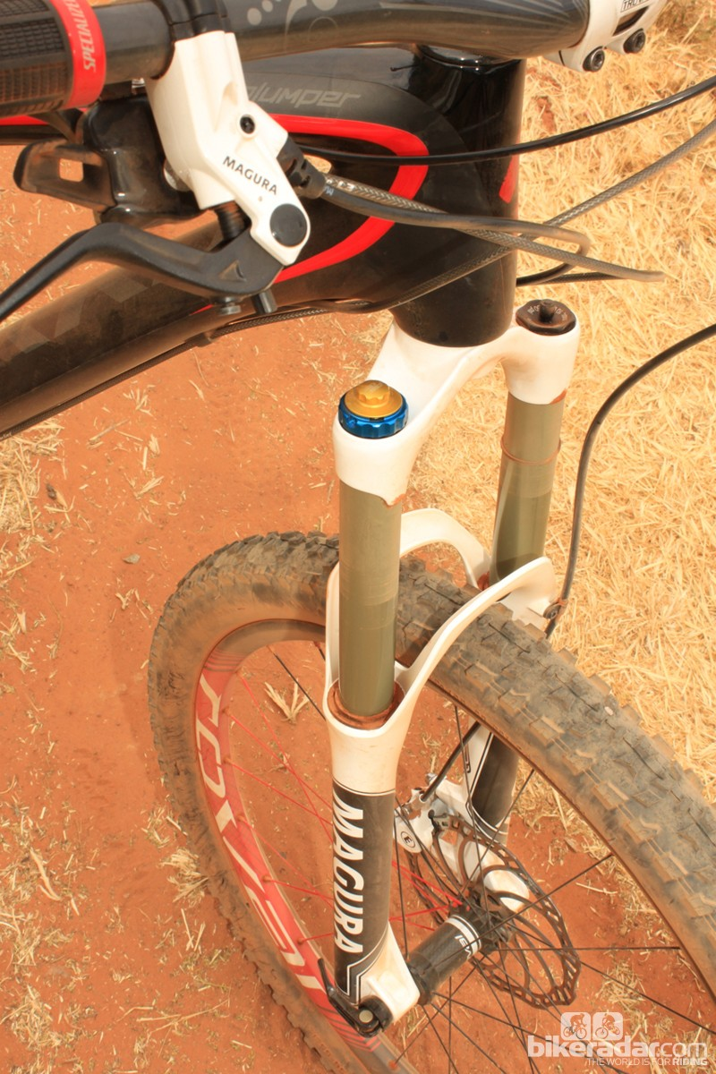 Our fork legs stayed clean during our two days testing in Sedona, AZ