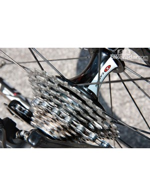 Stage 19's brutal profile had many riders, including BMC's Alessandro Ballan, reaching for cassettes with 27-tooth or 28-tooth cogs