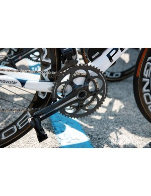 So exactly how tough was Stage 19? Tough enough that Movistar's Marzio Bruseghin ran a 34T inner chainring to go along with his 11-27T cassette