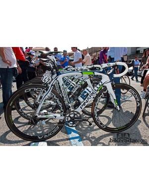 Marzio Bruseghin (Movistar) used this Pinarello Dogma 2 during Stage 19