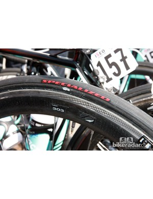 Specialized once supplied its teams with rebadged Veloflex tires but is now producing its own range of tubulars