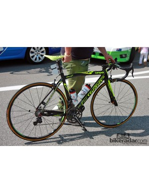 Michele Scarponi (Lampre-ISD) rode this Wilier Triestina Zero.7 to a fourth-place finish in Stage 19