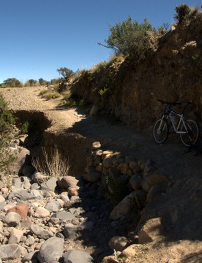 The 'road' to Chiguata - this part of the track was damaged by the rain