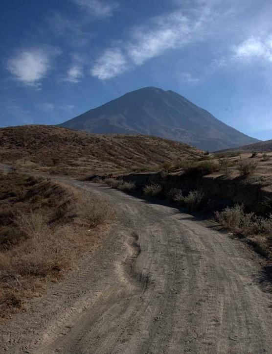 A trail running near Misti, Arequipa