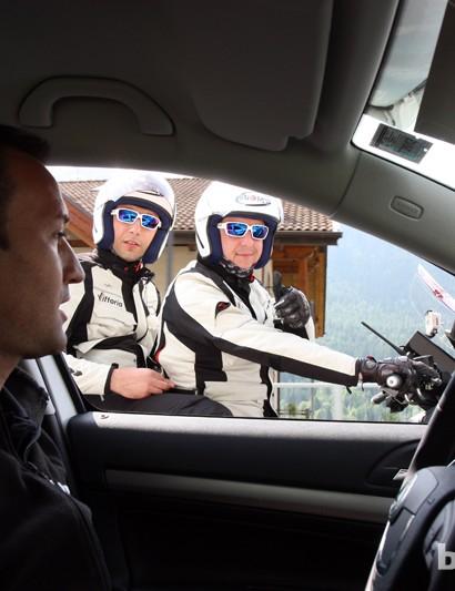 The Vittoria Servizio Corse crew fielded three cars and one moto during Stage 20.