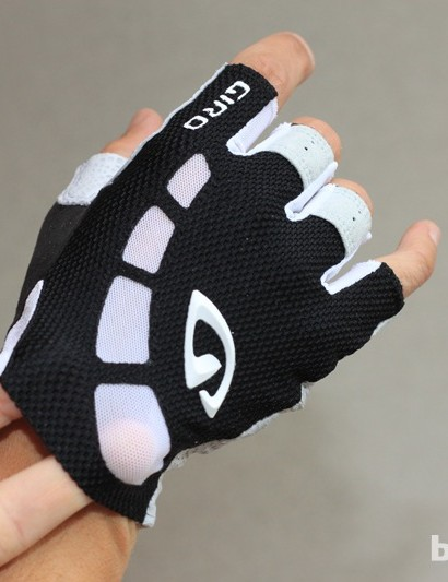 Lightweight mesh has been added between the fingers and in spots on the back of the hand