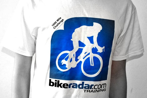 The 1000 mile challenge even has its own T-shirt!