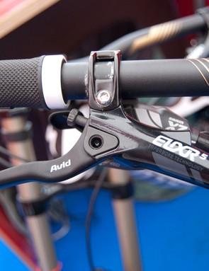 Avid Elixir 5 brakes come on the $7,000 Carbon Demo 8 1. The $10,000 Team Replica gets custom Avid X0-Code brakes