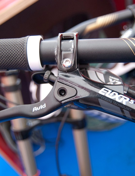 Avid Elixir 5 brakes come on the $7,000 Carbon Demo 8 1. The $10,000 Team Replica gets custom Avid X0-Code brakes