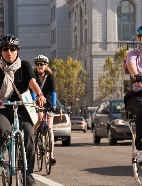 The San Francisco Bicycle Coalition have partnered with the city to offer commuter education courses