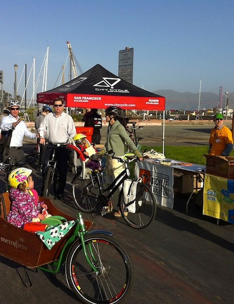 The San Francisco Bicycle Coalition's 2012 Bike to Work day aid stations