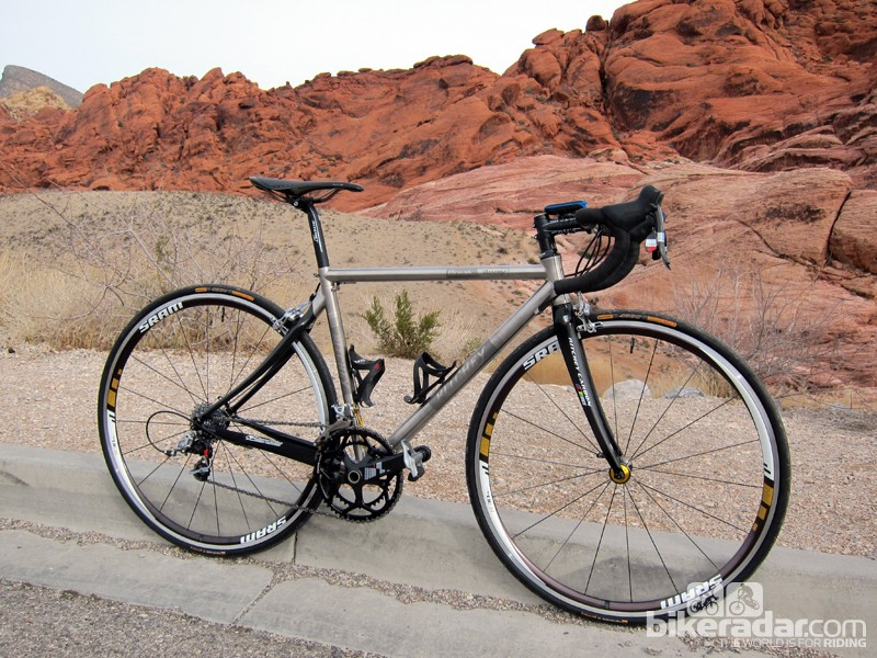 The Ritchey Break-Away Road Ti-Carbon travels easily, which is a major advantage