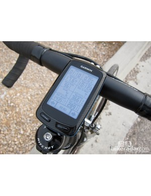 Garmin's Edge 800 computer was a perfect traveling companion, recording and tracking rides and guiding us too