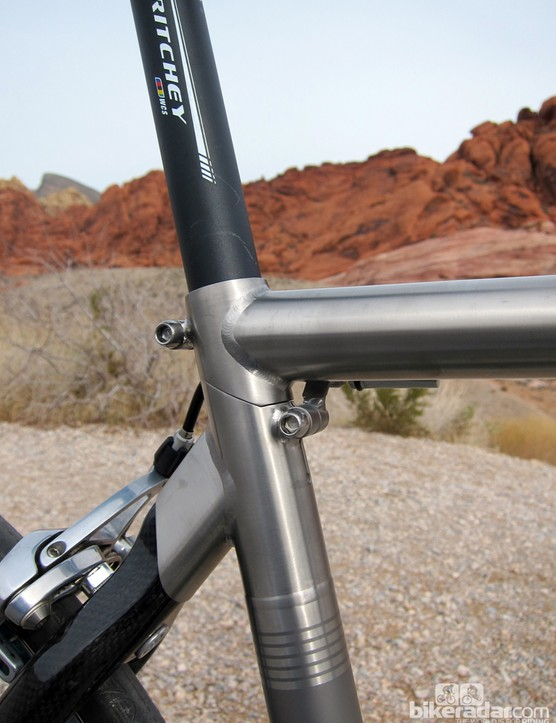 The seat cluster joint is brilliant - though we'd recommend pairing it with an aluminum seatpost