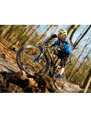 This bike puts any doubts about big wheels feeling unwieldy on techy singletrack to rest