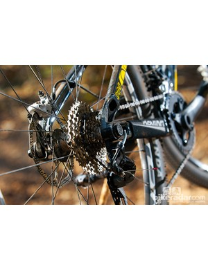 The Weagle Split Pivot dropout setup helps the suspension deal with demanding trails