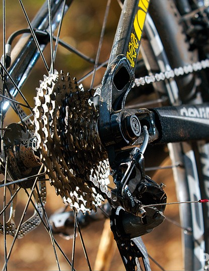 The Weagle Split Pivot dropout setup helps the suspension deal with demanding trails