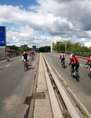 Riders on the Mancunian Way