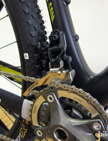 Canyon will use a direct-mount front derailleur on the new Grand Canyon CF carbon 29er hardtail