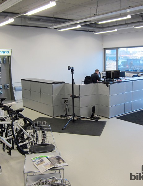 Customers can stop into the headquarters to drop off their bike for a service