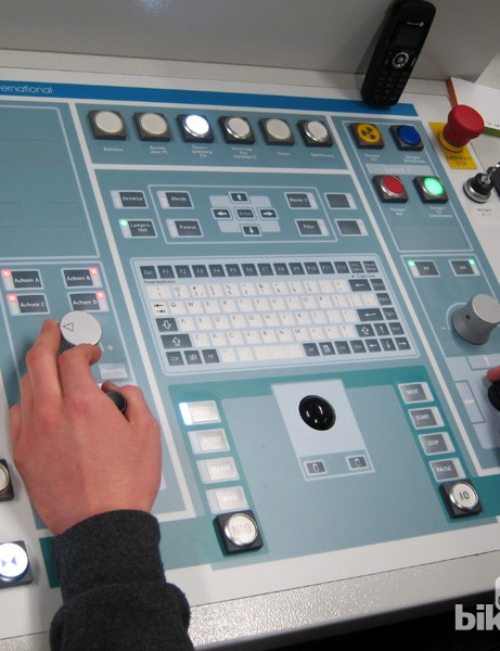 The control board of Canyon's new CT scanner