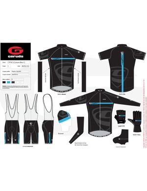 Jerseys, bibs, gloves, hats and a winter jacket are among the offerings