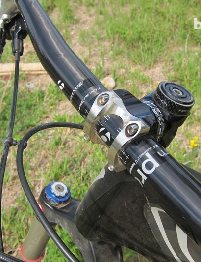 Bontrager test the Rhythm Pro Carbon bar to downhill strength standards